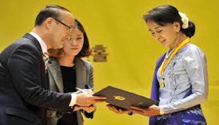 Paral tha:Laipa Jacob Thang nih Aung San Suu Kyi sin ah  ca kuat a tial bak ve cang